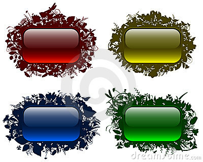 Glassy buttons in floral frames 2