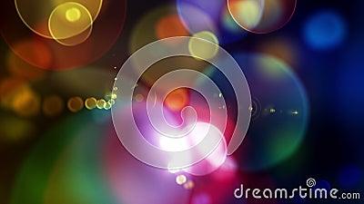 Laawah 1080p Colorful Defocused Circles Video Background Loop stock video
