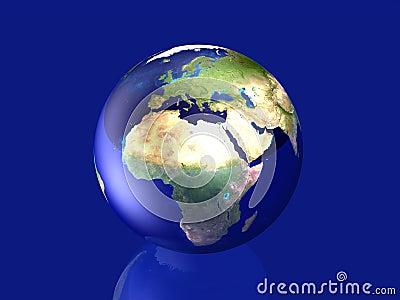 Glassy Globe - Europe, Africa