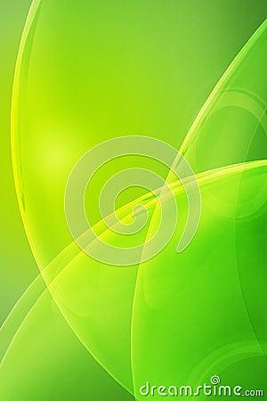 Glassy Green Background