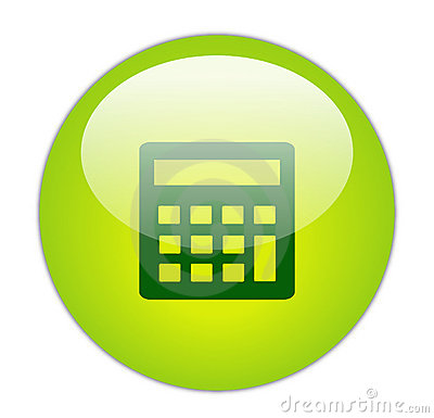 Glassy Green Calculator Icon
