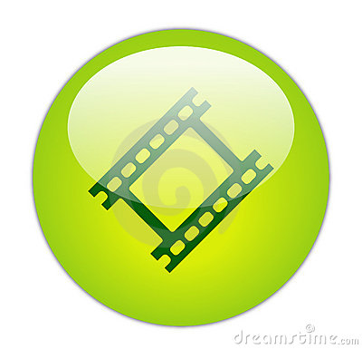 Glassy Green Film Strip Icon