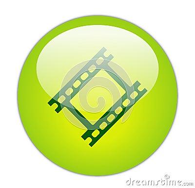 Glassy Green Film Strip Icon