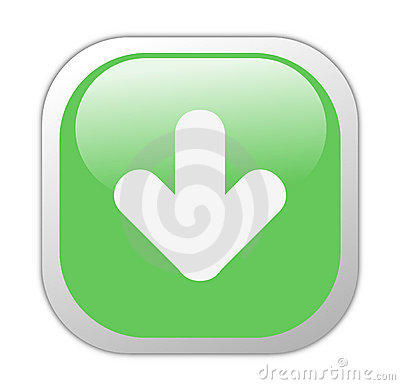 Glassy Green Square Download Icon