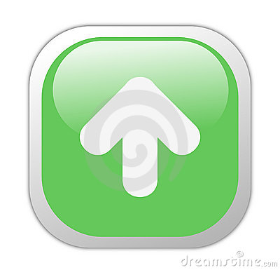 Glassy Green Square Upload Icon