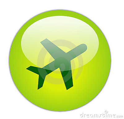 Glassy Green Travel Icon