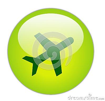 Glassy Green Travel Icon