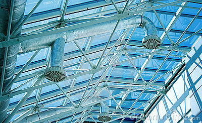 Glassy roof ventiduct