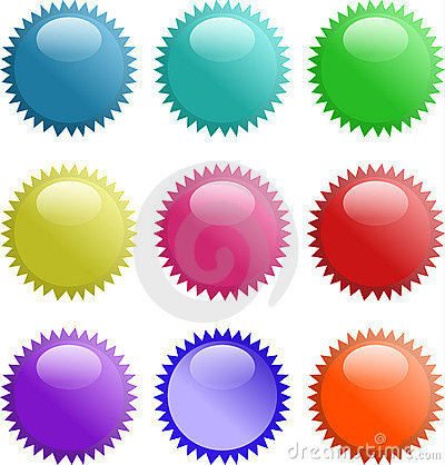 Glassy shining 3d sphere icon set