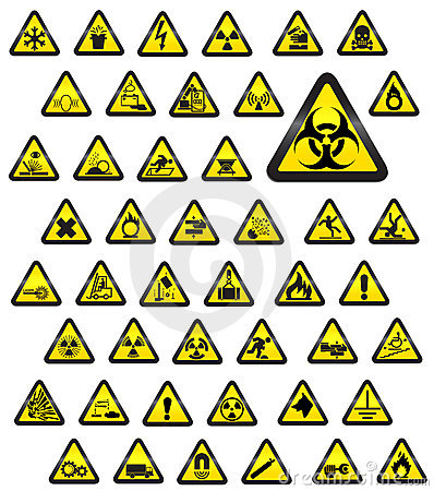 Free Glassy Warning Signs - Vector Stock Photo - 9151460