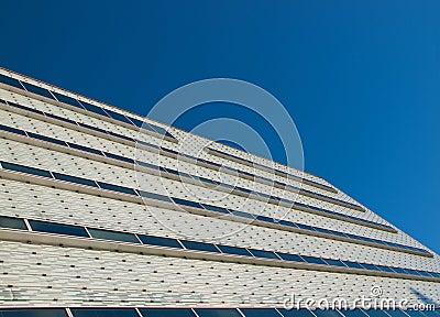 Glassy white facade.