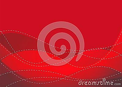Glatte kastanienbraune Welle