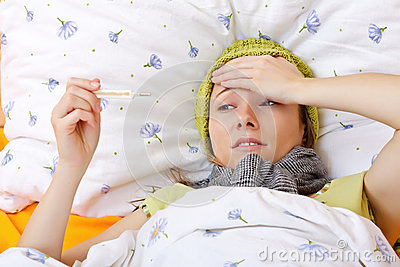 Glaubender Kranker und hohes Fieber haben
