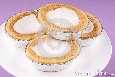 Glazed almond tarts