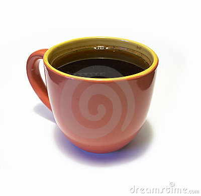 Free Glazed Pottery Coffee Cup With Coffee Stock Photo - 3867390