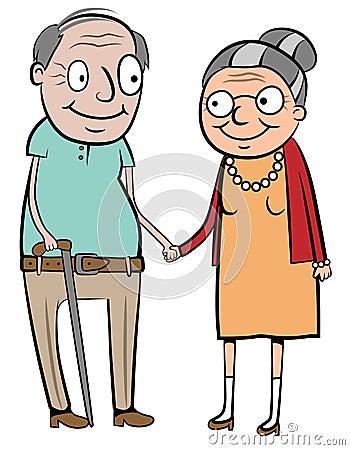 Glückliche alte Paare