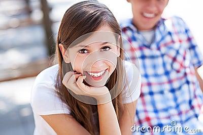 Glückliche Jugendliche