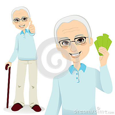 Glücklicher älterer Mann