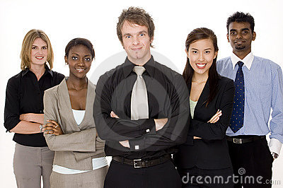 Glückliches Geschäfts-Team