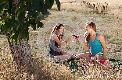 Glückliches Picknick