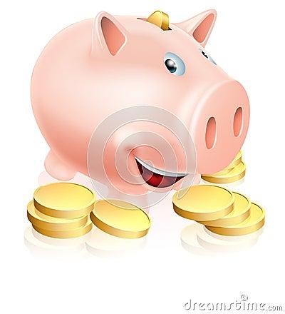 Glückliches Sparschwein
