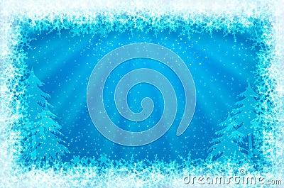 Gleaming shining ice frame
