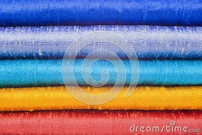 Gleaming Silk in Five Bright Colours