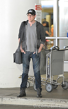 Glee actor Cory Montieth at LAX airport Editorial Stock Photo