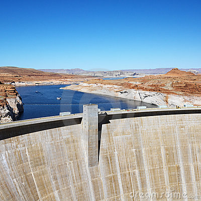 Free Glen Canyon Dam, Arizona. Royalty Free Stock Image - 2046326