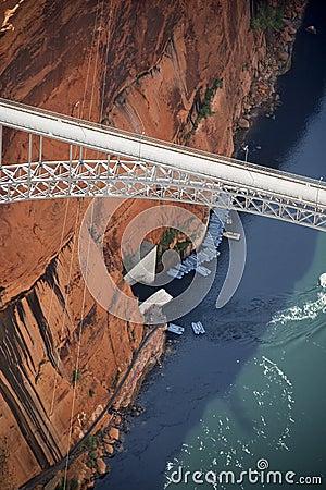 Free Glen Canyon Dam Bridge. Royalty Free Stock Images - 3611189
