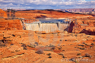 Glen Canyon Dam Lake Powell Arizona
