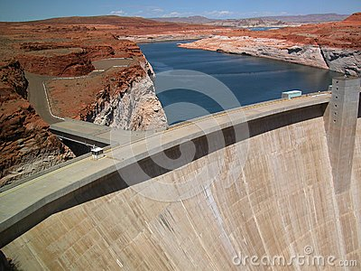 Glen Canyon Dam near Lake Powell