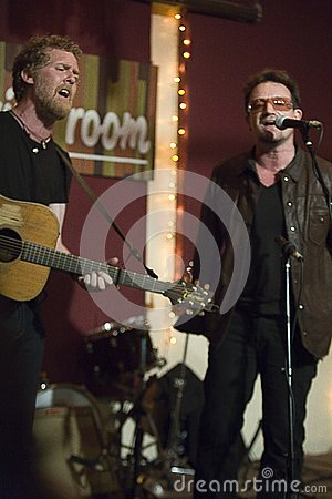 Glen Hansard and Bono Editorial Stock Image