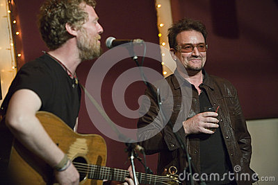 Glen Hansard and Bono Editorial Stock Photo