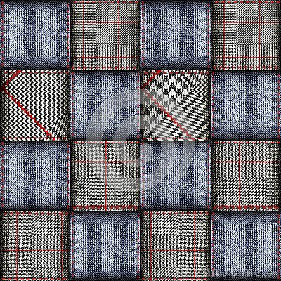 Free Glen Plaid Pattern. Stock Photography - 113257872