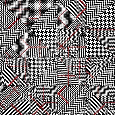 Free Glen Plaid Pattern. Royalty Free Stock Image - 119679936