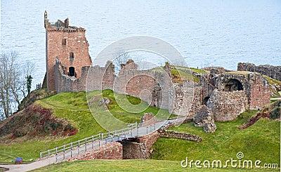 Glen Urquhart Castle: Loch Ness.