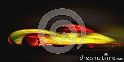 Glühender Effekt des Autos