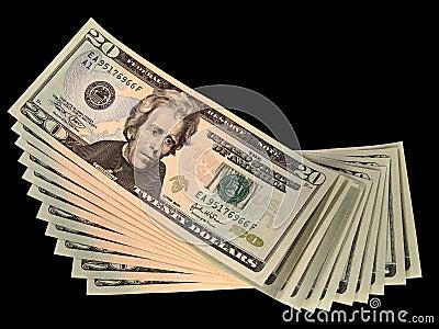 Gli Stati Uniti venti fatture del dollaro