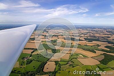 Glider wing landscape