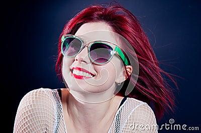 Glimlachend redhead meisje