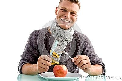 Leren met mes en vork eten