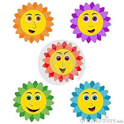 Glimlachende zonnebloem