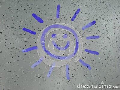Glimlachende zonneschijn