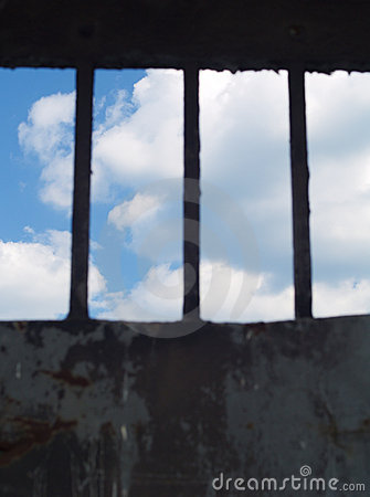 A glimpse of freedom - sky in focus