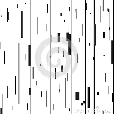Free Glitch Abstract Background. Glitched Backdrop With Distortion, Seamless Pattern With Random Vertical Black And White Lines. Stock Images - 110102214