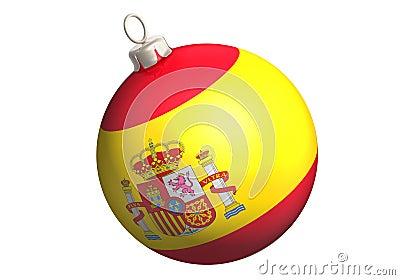 Glitter ball spain flag