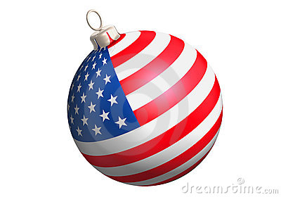 Glitter ball usa flag