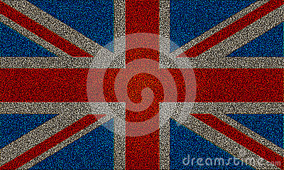 Glitter effect Union Jack UK flag