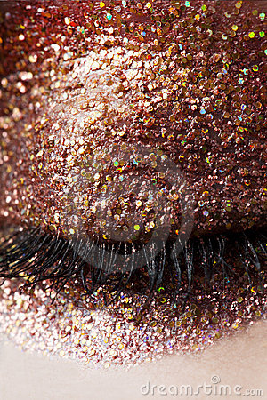 Free Glitter Eye-Shadow Closed Eye Royalty Free Stock Photography - 16953917